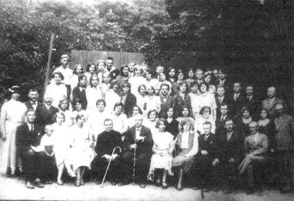 Chór św. Cecylia na zjeździe śpiewaczym w Świeciu n/Wisłą 1937 r.